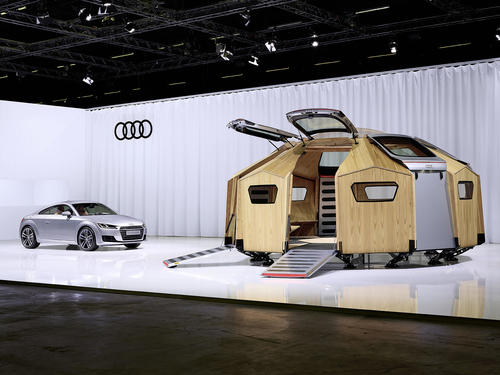 "Audi at Design Miami/Basel 2014: Konstantin Grcic dresigns the ""TT Pavilion"""
