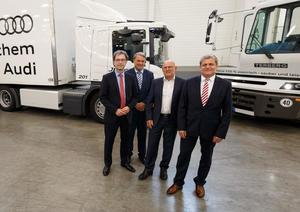Nachhaltige Mobilität und Logistik: Landesverkehrsminister Hermann besucht Audi-Standort Neckarsulm