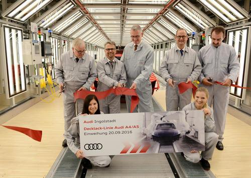 Audi Ingolstadt: Audi opens new, highly efficient paint shop