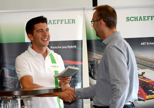 Mike Rockenfeller visits Schaeffler in Hungary