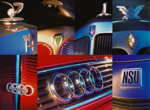 Die Marken, aus denen sich die AUDI AG bildete