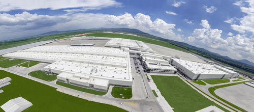 Audi México aerial view
