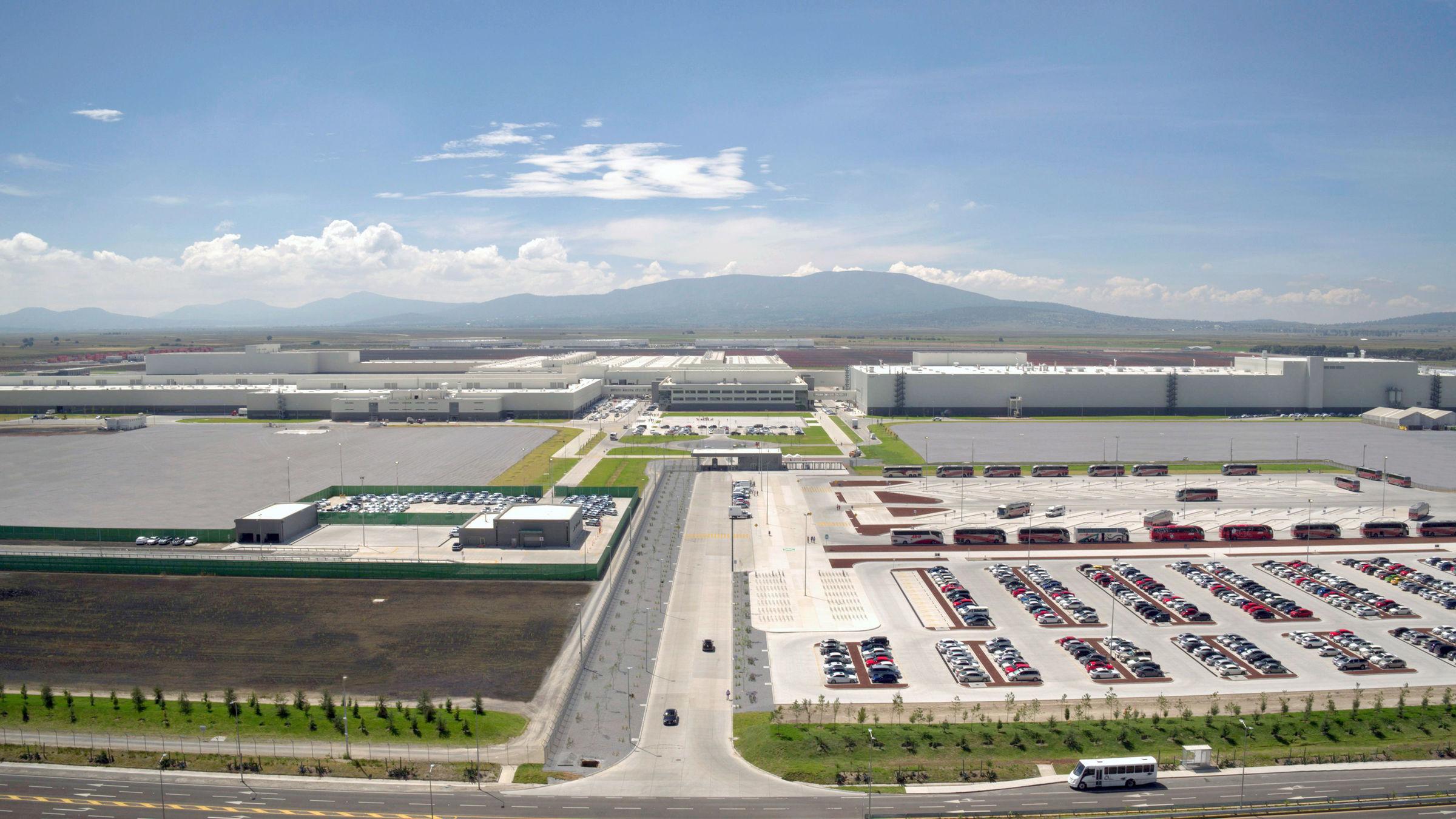 Audi México: aerial view