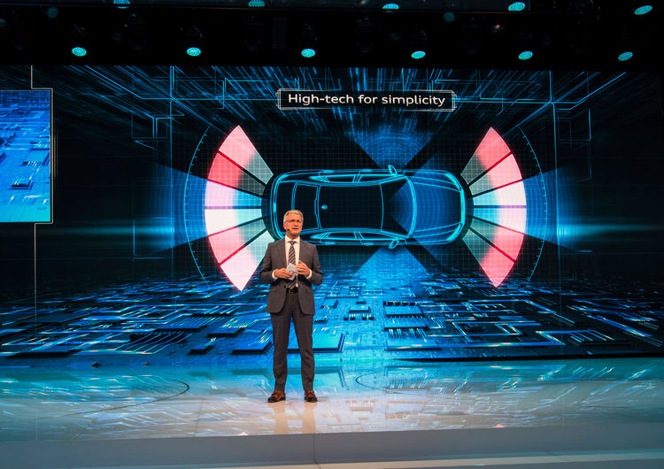 Prof. Rupert Stadler (Chairman of the Board of Management of AUDI AG) at the Audi press conference, Paris Motor Show 2016