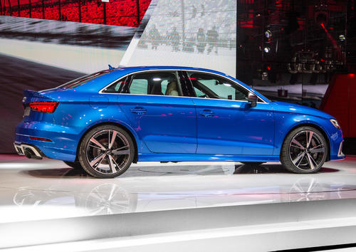 The new Audi RS 3, Paris Motor Show 2016