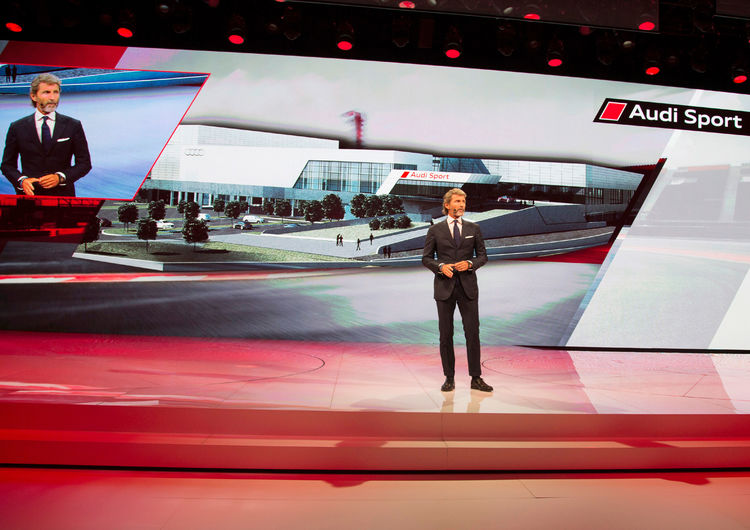 Stephan Winkelmann (CEO quattro GmbH) ) at the Audi press conference, Paris Motor Show 2016