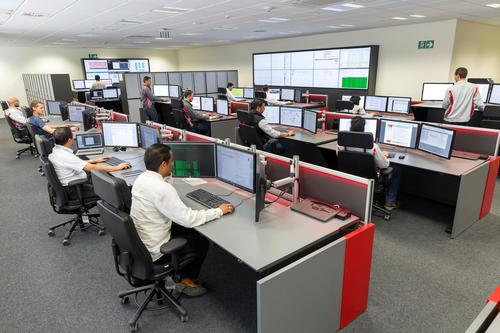 Audi México: Production control room