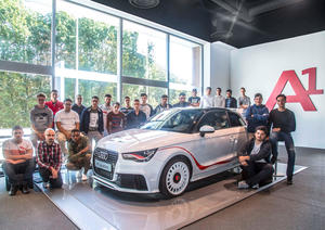 Start of vocational training at Audi Brussels in 2016