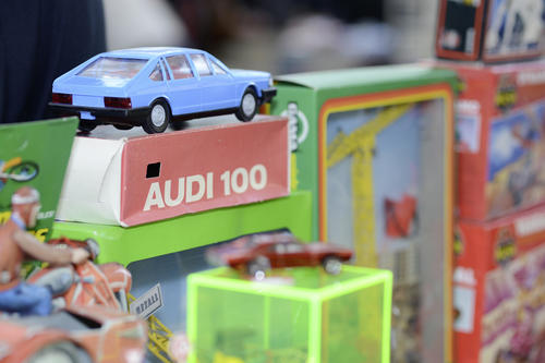 Die Modellautobörse im Audi Kundencenter.