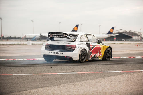 Rallycross event, Audi Central Lounge Training, Munich airport