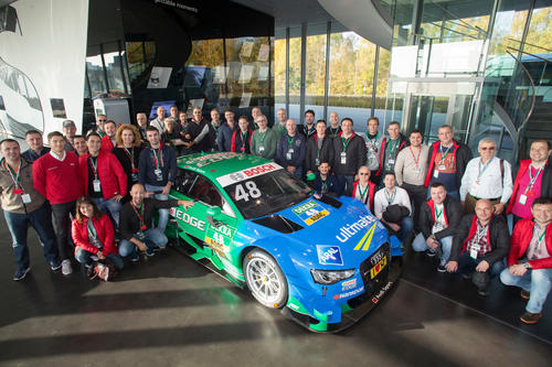 Castrol visits the Audi driving experience center