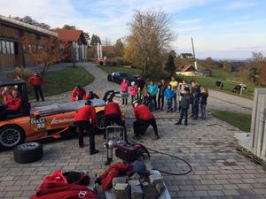 """Team Rosberg thrills children at """"Orange House"""""""