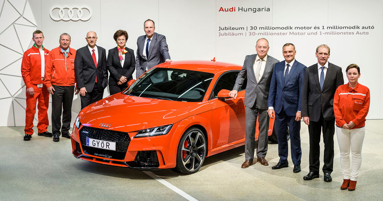 Audi Hungaria passes millions mark in production