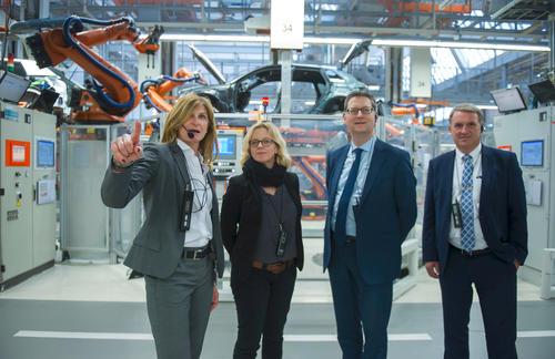 Stellvertretender Bundesvorsitzende der SPD Thorsten Schäfer-Gümbel zu Besuch bei Audi in Ingolstadt
