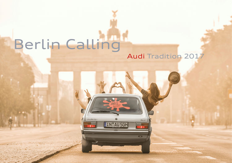 "new ""Berlin Calling"" calendar from Audi Tradition"