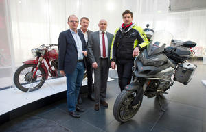 Ducati-Globetrotter at Audi Forum Ingolstadt