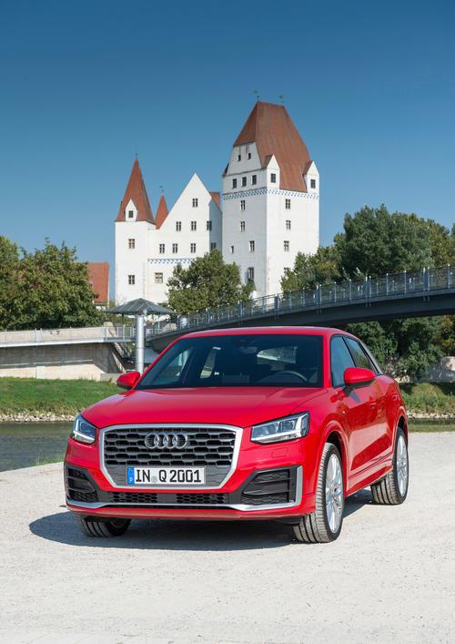 Der neue Audi Q2 unterwegs in Ingolstadt.