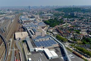 Luftaufnahme Audi-Standort Brüssel, Belgien
