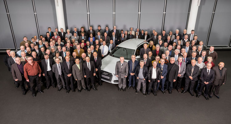 Betriebsjubiläum für mehr als 650 Mitarbeiter bei Audi in Neckarsulm.