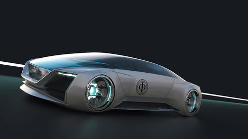 "Virtual Vision: Audi fleet shuttle quattro for the movie ""Ender's Game"""