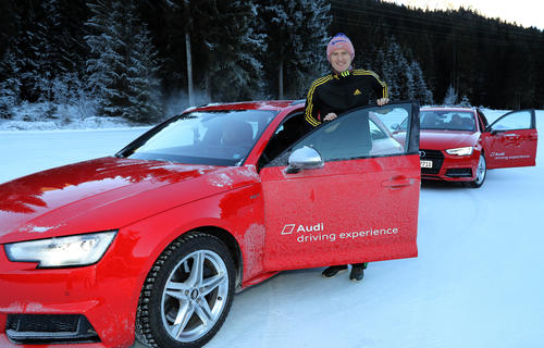 Audi leads ski jumping stars to the ice