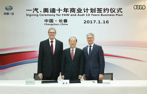 AUDI AG and FAW Group sign strategic growth plan for China