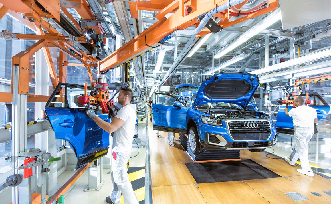 Production and logistics audi mediacenter for Production builder