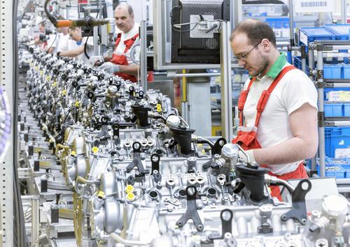 Audi Hungaria: Motorenproduktion