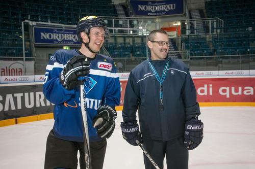 Ekström visits ERC Ingolstadt
