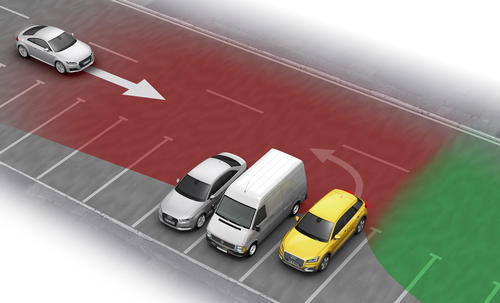 Cross traffic assist rear