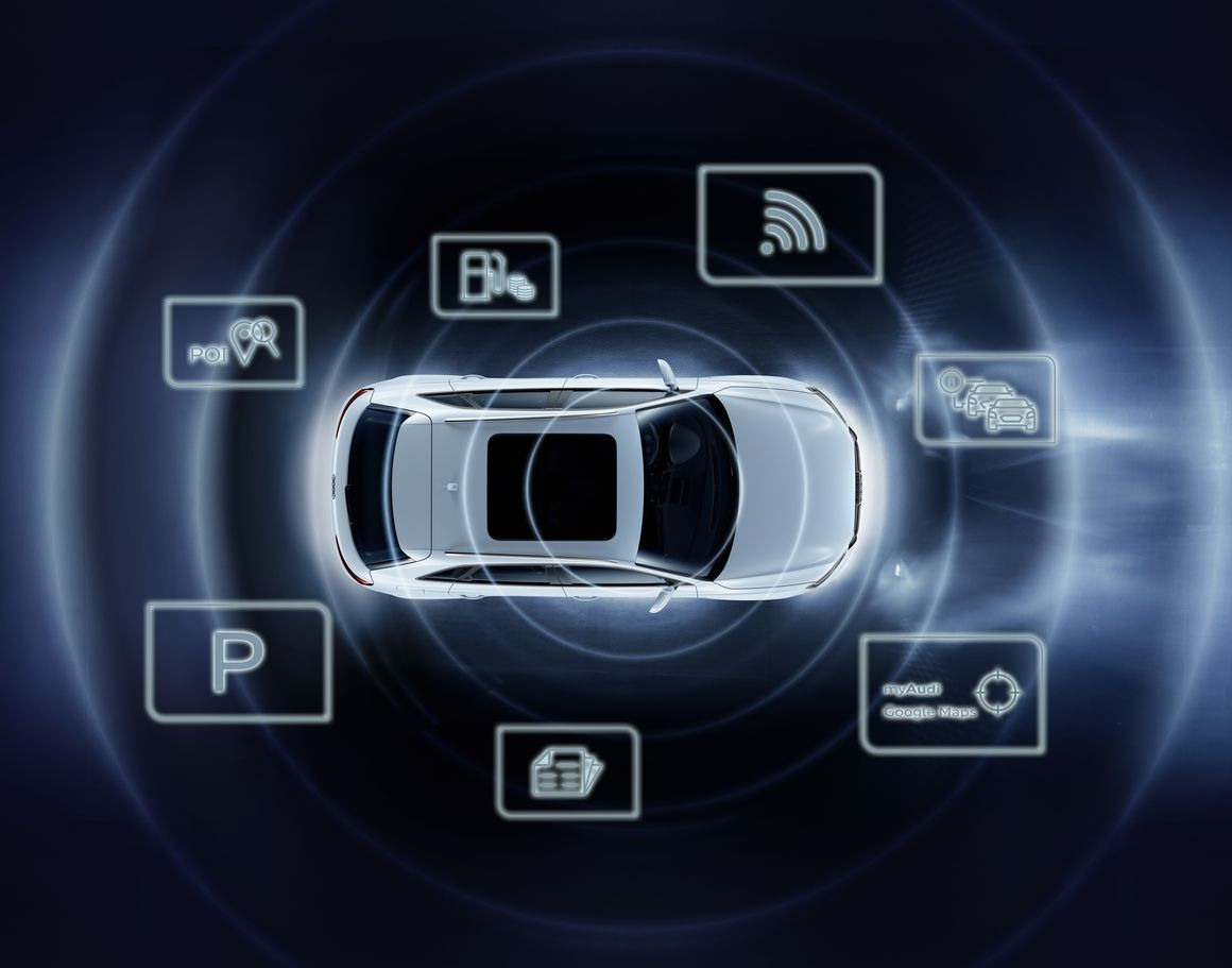 Audi connect SIM: With it, the use of Audi connect services is activated when the car is purchased