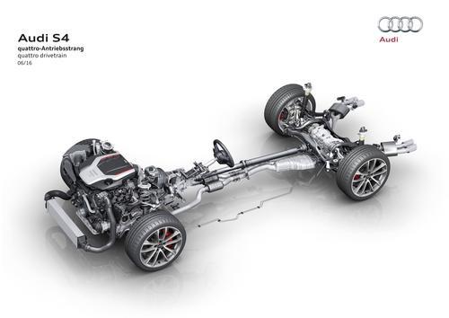 Audi S4: quattro-Antriebsstrang