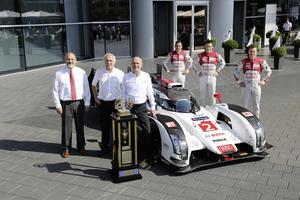 Sieger der 24-Stunden-Rennen von Le Mans und dem Nürburgring am Audi-Standort Neckarsulm