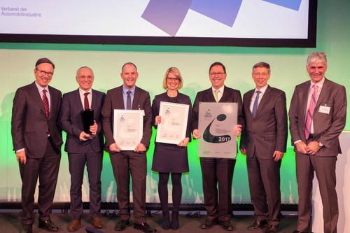 Audi has won the Logistics Award 2017 from the German Association of the Automotive Industry (VDA)
