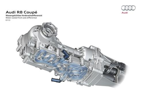 Audi R8 Coupé: Water cooled front axle differential