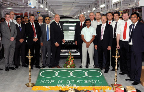 Start of Production of Audi Q7 in India: