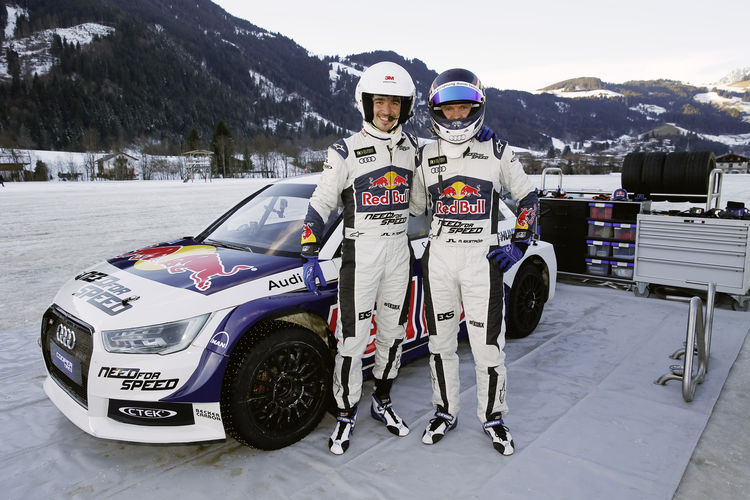 Audi driver Ekström takes Neureuther for a ride on ice