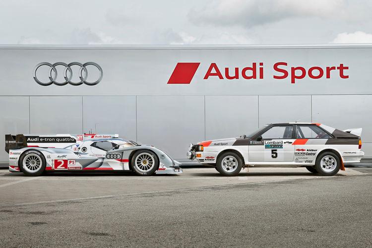 Audi R18 e-tron quattro, Audi quattro