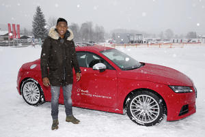 FC Bayern München players visit the Audi driving experience in Kitzbühel: David Alaba (A)