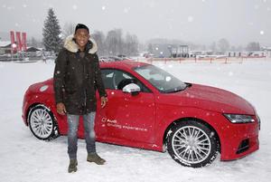 Besuch von Spielern des FC Bayern München auf der Audi driving experience in Kitzbühel: David Alaba (A)