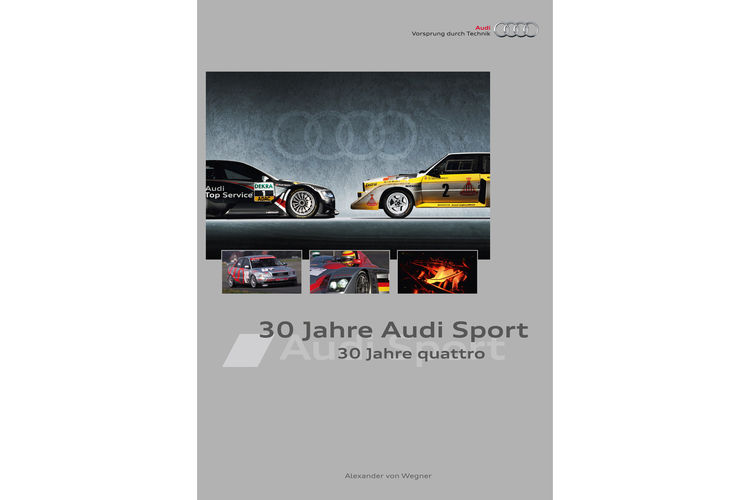 "Cover ""30 years of Audi Sport - 30 years of quattro"""