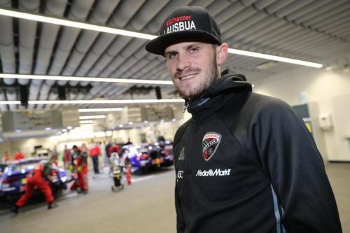 FC Ingolstadt footballer meets DTM star Mattias Ekström
