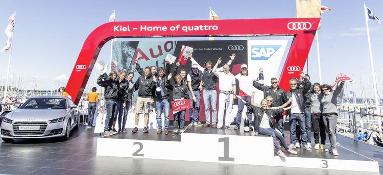 Siegerehrung des Audi ultra Cup