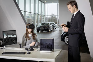 Audi VR experience: the dealership in a briefcase