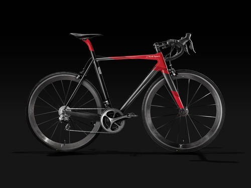 Audi presents the first racing bike made of carbon