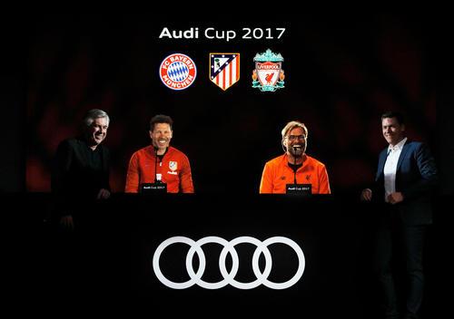 Audi Cup 2017 Hologramm-Pressekonferenz