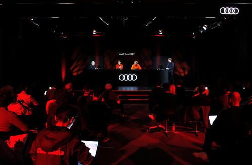 Audi Cup 2017 Hologram press conference