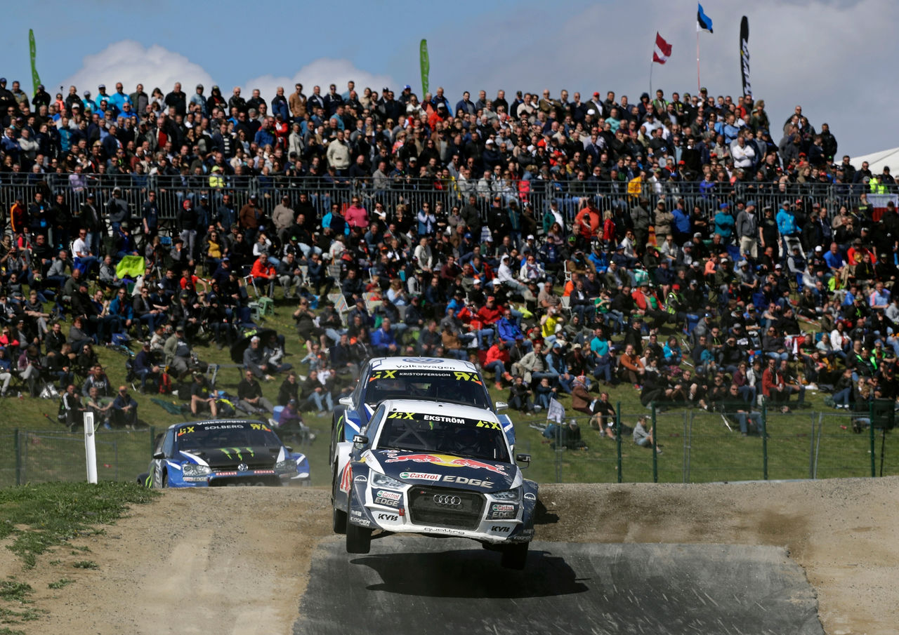 Test of courage for Audi drivers at rallycross in Belgium