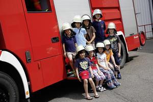 Kindertag bei der Werkfeuerwehr am Audi-Standort Neckarsulm
