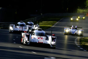 Audi ready for the race at Le Mans